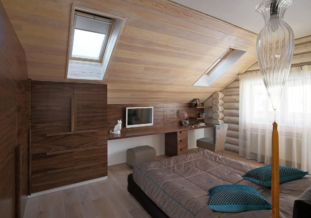 Дизайн спальни в частном доме