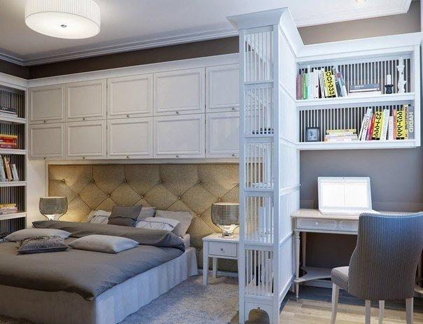 Спальня с кабинетом дизайн